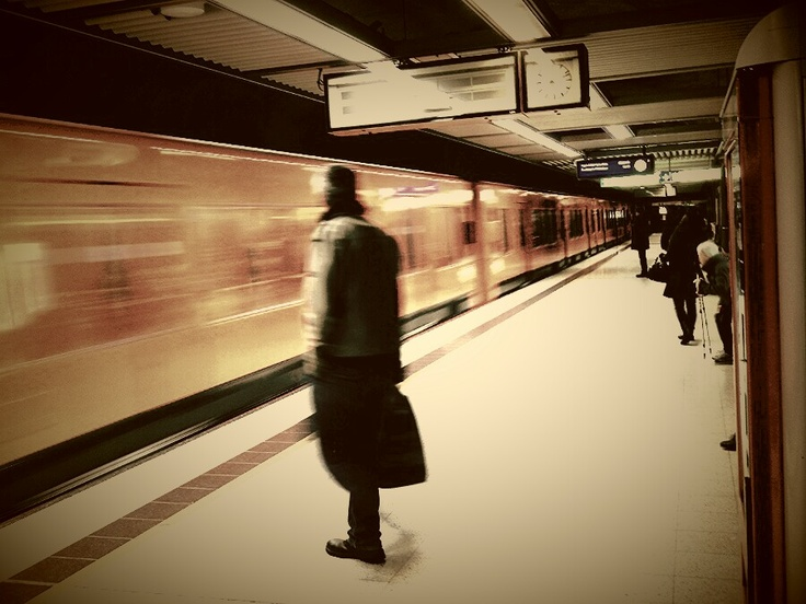 Man in the subway.