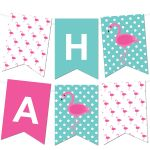 Free Flamingo Printable Pennant Banner Maker from printablepartydecor.com