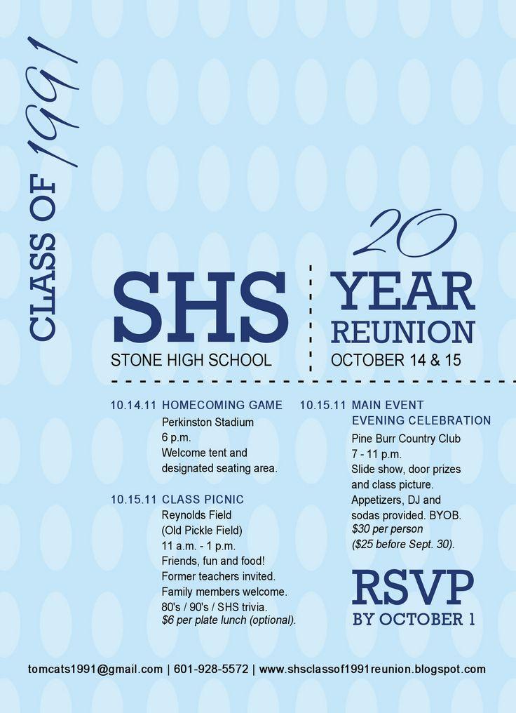 25 best ideas about Class Reunion Invitations – Reunion Invitation Template