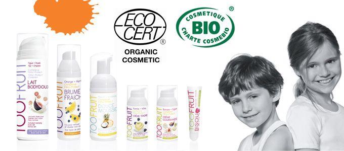 TooFruit product range. TooFruit: natuurlijke en biologische huidverzorging voor kids van 7 tot 12 jaar