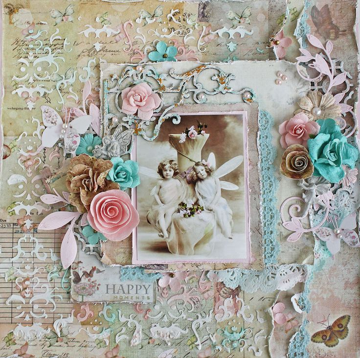 Happy moments scrapbooking layouts