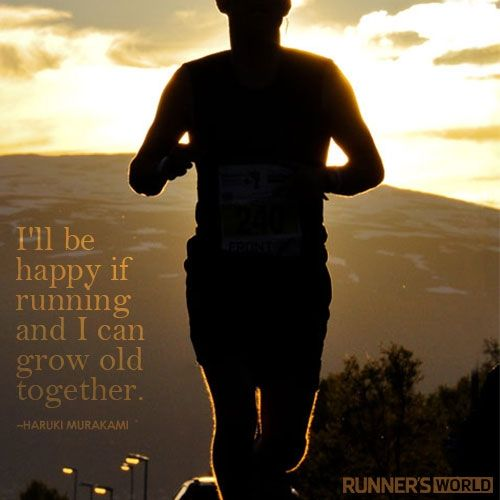"""i'll be happy if running and i can grow old together"" {haruki murakami)  #agree #FunRun #OnlyAtomsrunning:"
