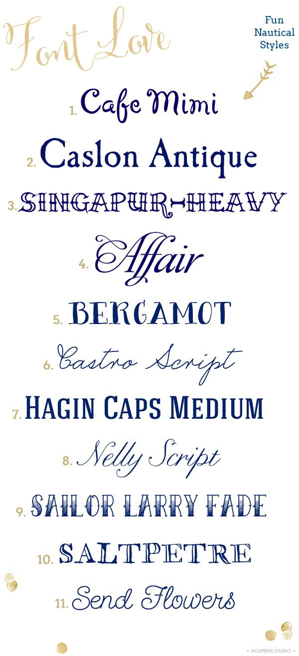Nautical #Fonts | Mospens Studio