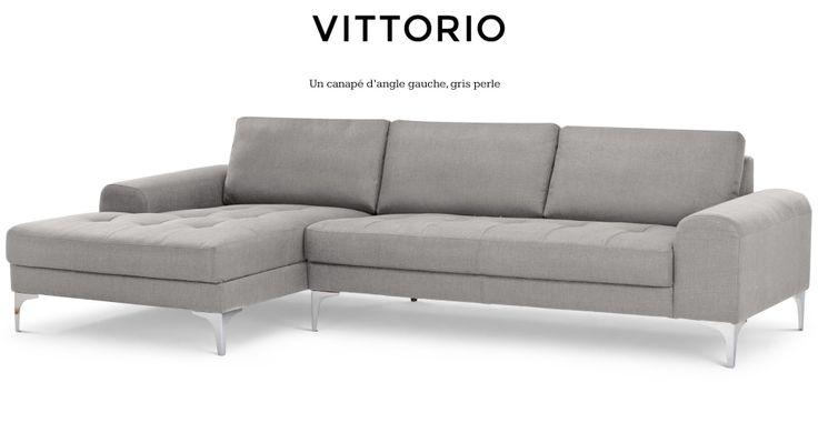 Vittorio, un canapé d'angle gauche gris perle | made.com