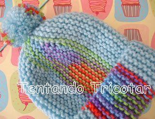 Tentando Tricotar: Gorros em tricot feitos na vertical