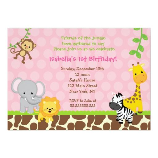 463 best Jungle Birthday Party Invitations images on Pinterest - best of invitation card for new zoo