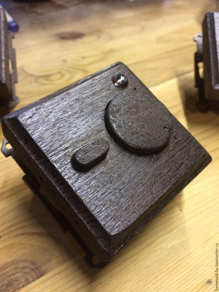 Купить Терморегулятор механический из дерева (ТИК) (Classic) - коричневый, дерево, деревянная, из дерева, тик, дуб