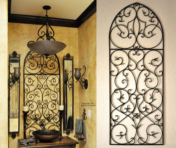 Tuscan Iron Wall Decor - Love the Tuscan decor bathroom!