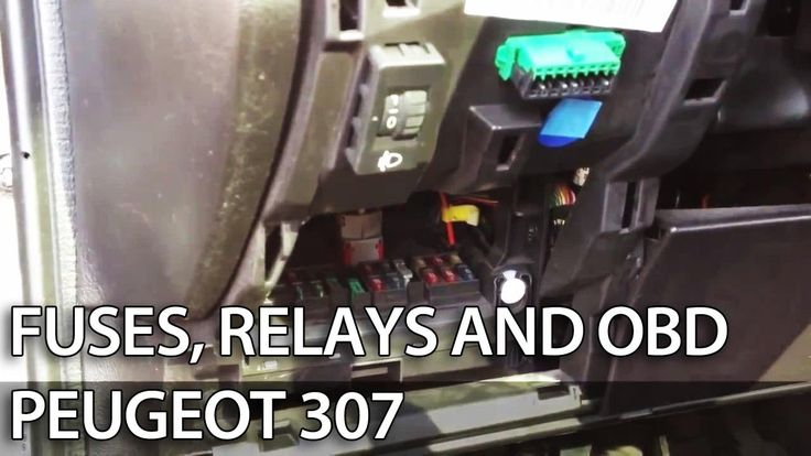 Where are fuses, relays and OBD port in #Peugeot #307 (fuse box, OBD2) #cars
