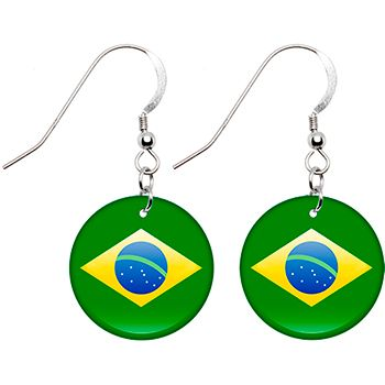 $8.99 Olympics Brazil Flag Earrings