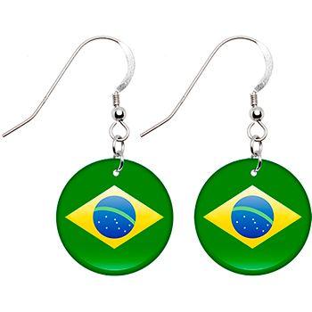 $8.99 Olympics Brazil Flag Earrings