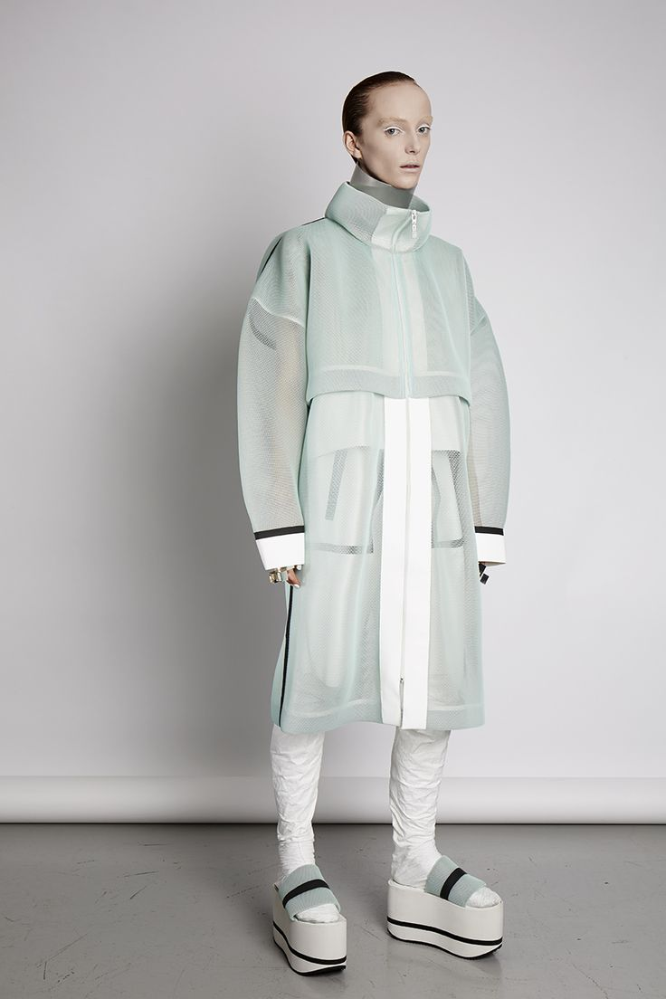 MINT MESH COAT- LEI HE LESS COLLECTION