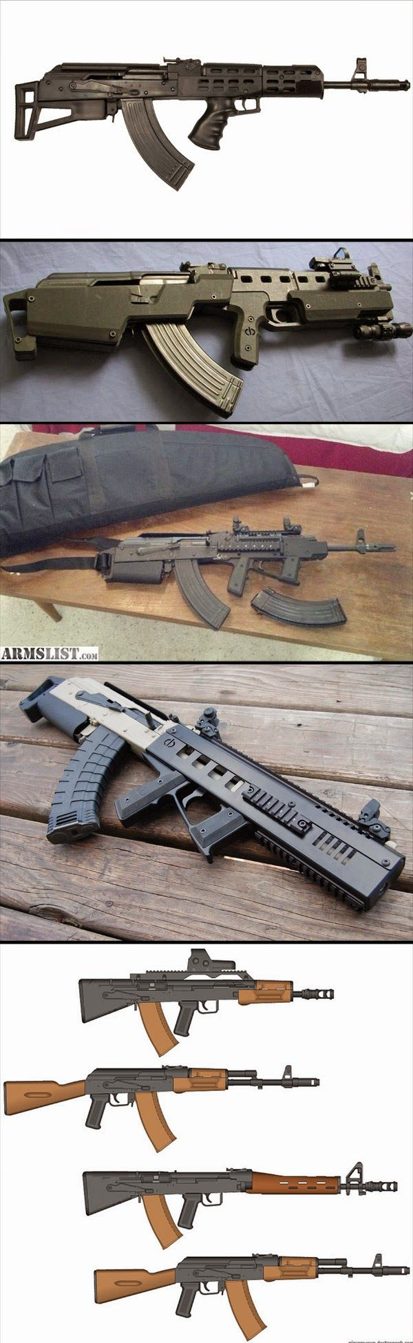 AKU 94 : AK 47 Bullpup version