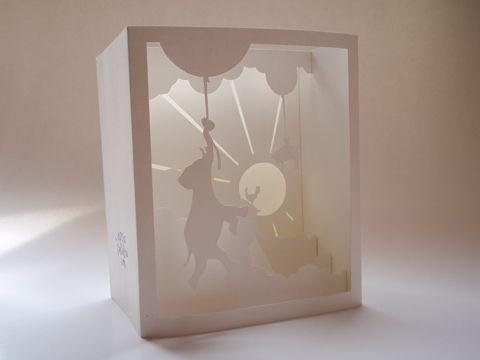 3D pop-up postcard   part of press kit idea via appracadabra blog