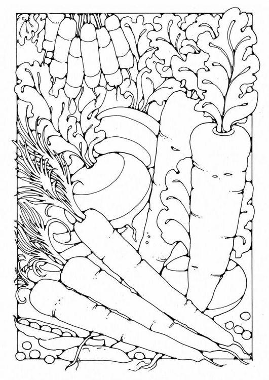 Kleurplaat Groente Coloring Page Vegetables