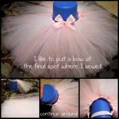 How to make a tutu! @Leslie Lippi Lippi Lippi Riemen Marie I think it would be really cute with the bow in front. I know you don't want any blue but we could do the bow blue and match it to one in your hair it would be so cute!!! But we can do just a darker pink