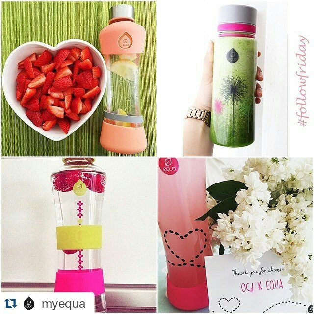 #Repost @myequa with @repostapp  Fresh colors summer filing and healthy hydration from these lovely ladies! We  it! #followfriday #myequa #equa #tgif #healthy #hydration #water #waterbottle #bpafree #glassbottle
