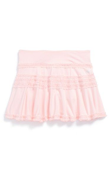Limeapple Ruffle Scooter Skirt (Little Girls) available at #Nordstrom