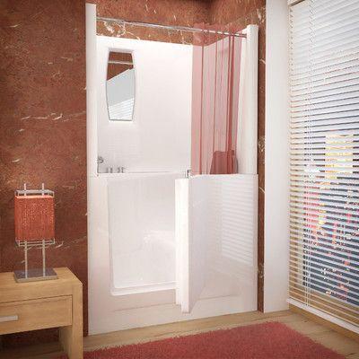 "Therapeutic Tubs Telluride 47"" X 27"" Walk-In Bathtub Drain Location: Left #site:glassshelveshq.top"