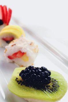 Delicioso y fresco sushi de frutas                                                                                                                                                                                                                                                                                           27 Repins                                                                                                             8 Likes