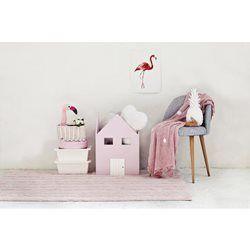 Пастельный розовый ковер для ребенка хлопка Lorena канальцы Trenzas Лорена КАНАЛОВ