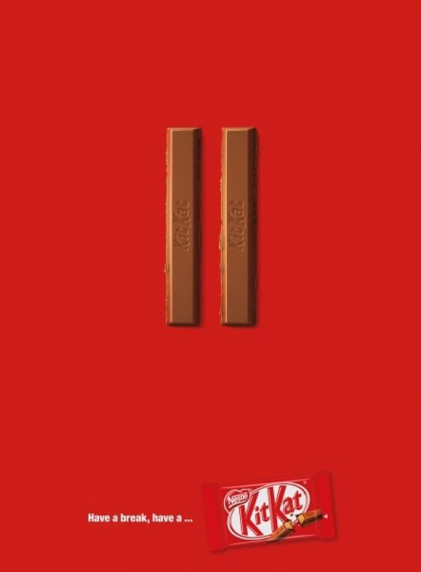 """Pause"" Print Ad for Kit-kat Chocolate"