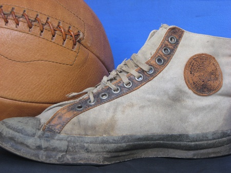 Image detail for -An early 1900s Converse Basketball Shoe