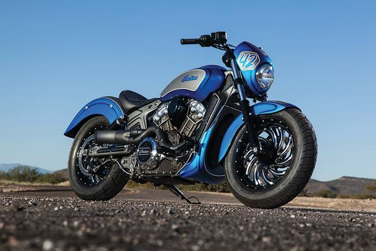 2015 Indian Motorcycle Scout In Custom Blue And Silver