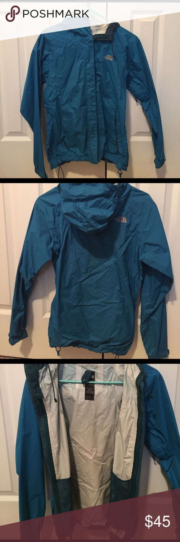 Spring blue North Face rain jacket! Great color for spring, in great condition, smoke free home, no rips! Will take reasonable offers! The North Face Jackets & Coats