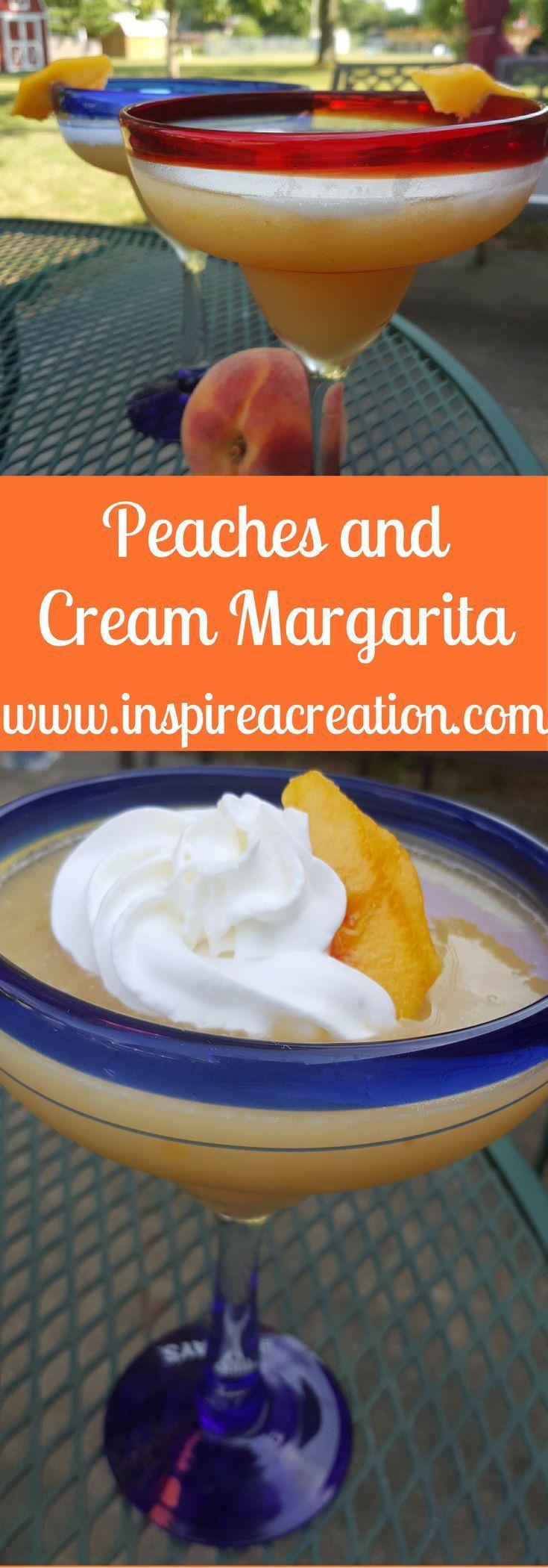 Peaches and Cream Margarita