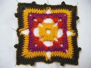 Crochet Stitch Encyclopedia Online : carrE du ch?che de Phildar CROCHET - travaux aiguilles Pinterest