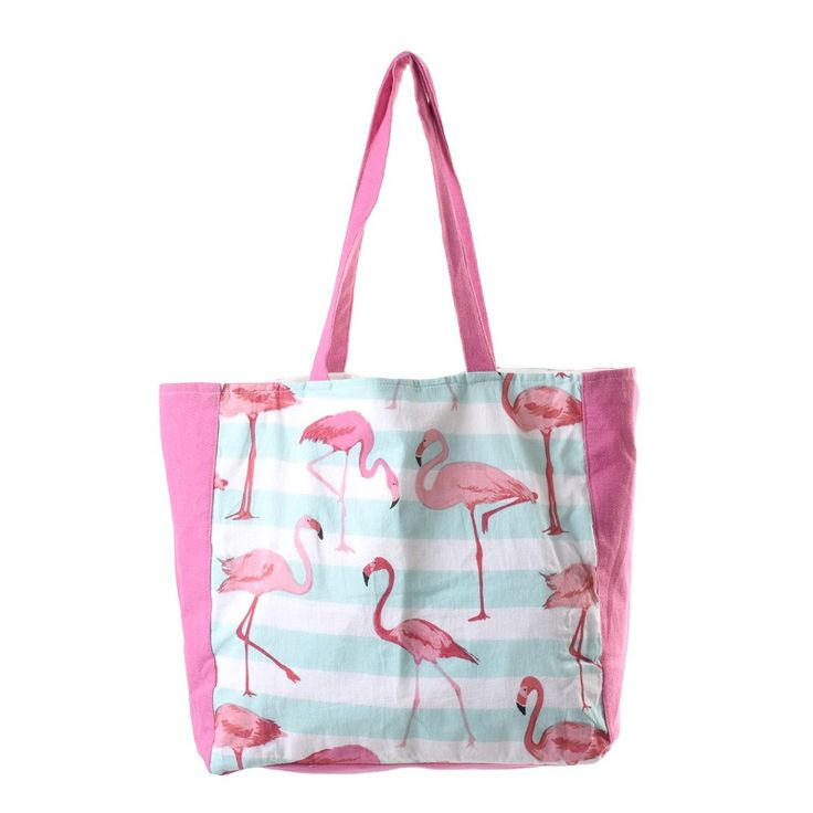 FABRIC BAG MULTICOLOR WITH FLAMINGOS - Bags