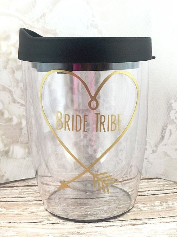 Bride Tribe Cups Bachelorette Party Favors by MelissasHomeDecor
