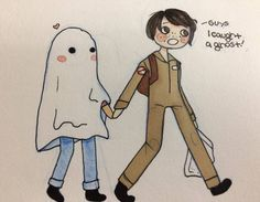 """5,145 Likes, 34 Comments - Nickyoung (@stranger_fanart011st) on Instagram: """"Aww Mike caught a ghost during trick or treating for Halloween. Art by @iamtiredandtrash…"""""""