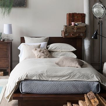 Cadman Platform Bed #westelm  I bet I would crack my shin on the edges of this one but like the look.