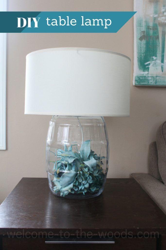 Diy Glass Table Lamp Tutorial Diy Table Lamp Glass Table Lamp