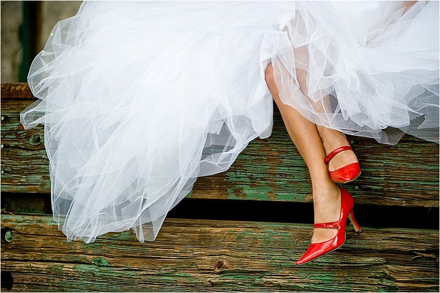 Tulle red shoes