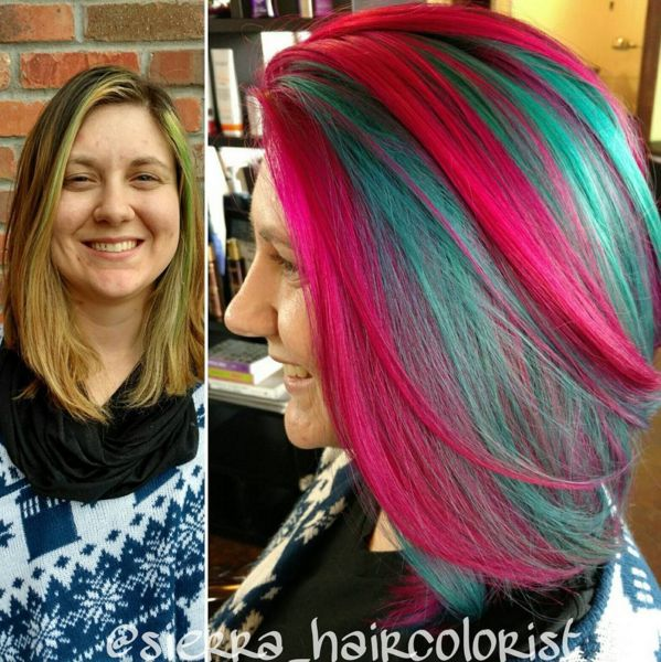 Gorgeous vivid rainbow hair created using L'ANZA VIBES