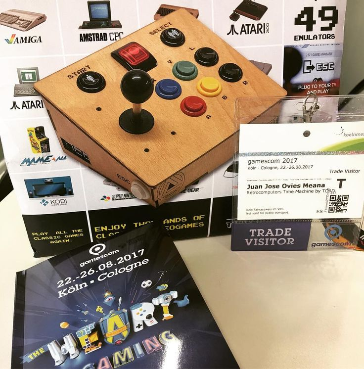 Meet us at @gamescom if you want to became a #reseller of our products. Make your appointment on info@toad.es Time Machine are the best selling #retroconsole Handmade in Spain features SD 64Gb 49 #emulators thousands of games #raspberrypi 3B #emulationstation #kodi #scratch and #python programing software all ready to use! Play all the classic games again!  http://ift.tt/2aNDrL4 #retrocomputing #retrogaming #mame #homecomputer #8bit #16bit #neogeo #msx #amstrad #commodore 64 #nintendo #sega…