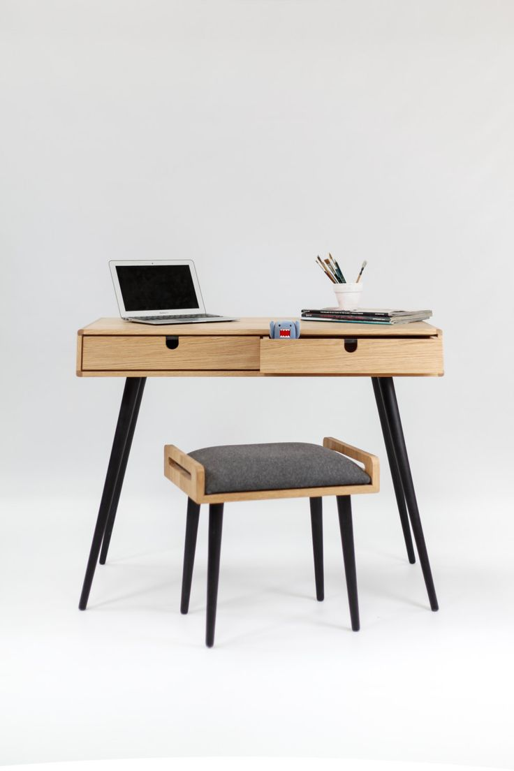 Oak office desk benefits for home office - Desk In Oak Bureau Dressing Table Office Desk By Habitables