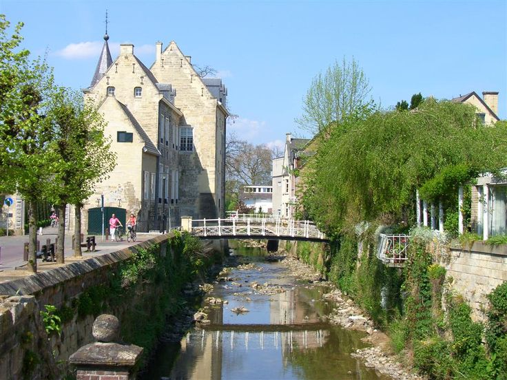 HOLLAND....VALKENBURG.  It's situated on the river Geul. Just a small stream that runs through the town.