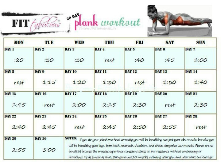 30 day plank workout