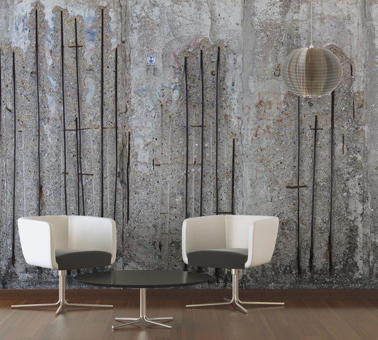 20 besten Tapeten Bilder auf Pinterest Betonwand, Fototapete und - backstein tapete wohnzimmer