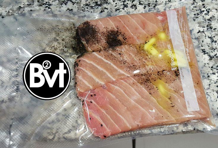 Ventresca de atún al vacío a baja temperatura – Sousvide low temp Tuna Belly – BombonVivant