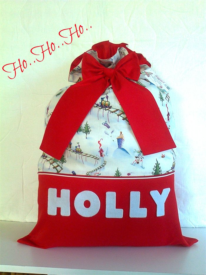 "Personalised "" Christmas Santa Sacks "" .."