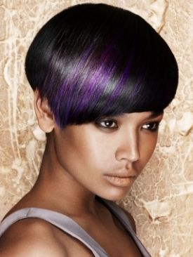 Deep purple...never thought about actually putting purple in my hair..I like it