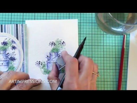 Art Impressions Blog: NEW VIDEO! Watercolor Wednesday - Two Color Container 4701 – Clay Pot