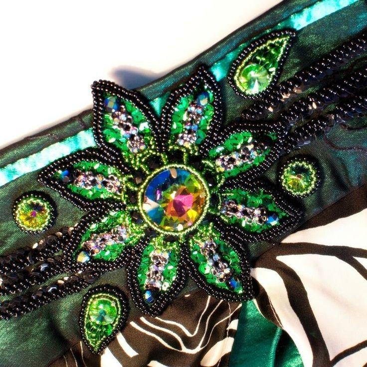 Ninetka Zdobení orientálního kostýmu - detail pásu https://www.facebook.com/artandbijouxninetka
