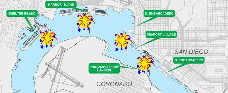 Shelter Island   San Diego July 4 Fireworks on San Diego Bay Big Bay Boom