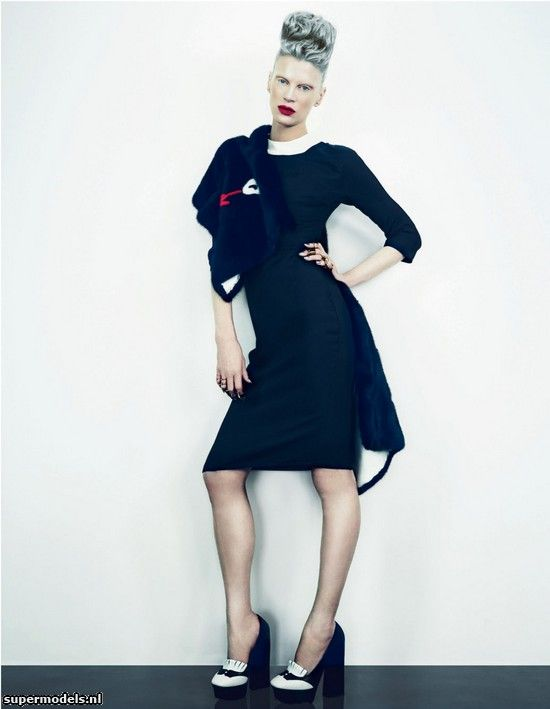 Kristen McMenamy in 'Lady Killer' - Photographed by Emma Summerton (W March 2013)    Complete shoot after the click...